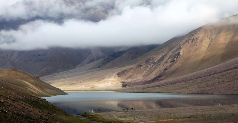 Chandrataal lake, Spiti. good for hiking and camping tours in India