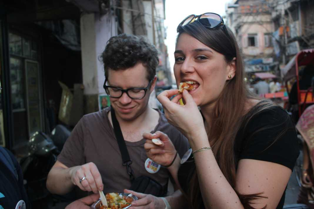 eating indian street food safely. Food safety in India
