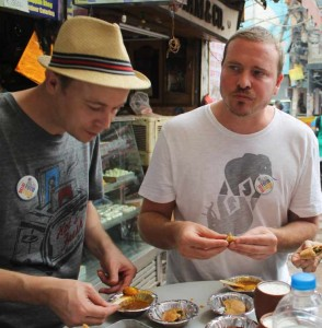 Safely eating Indian street food in India