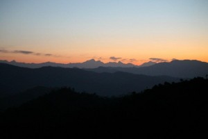 Dawn in Ranikhet, trekking and camping tours in India