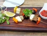 Kebabs, mushroom, cheese