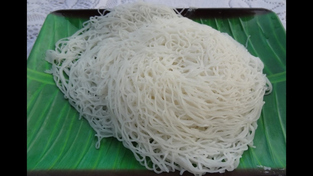 Idiyappam is also known as Noolappam in Kerala cuisine. Idiyappam is made of rice flour, salt and water with a number of thin strands entwined together to make the lovely texture that this dish bears. It is this texture that makes it versatile. It tastes best with Egg Curry.