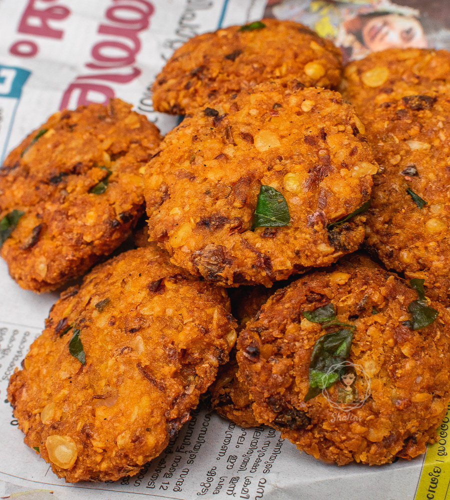 Parippu vada or masala dal vada is a savoury fried snack in Kerala. It is made from legumes and is best consumed for breakfast. Sambar and coconut chutney are the standard accompaniments for Parippu vadas.
