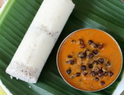 Puttu and Kadala curry is a famous breakfast recipe out of the many Kerala. Puttu is a cylindrical steamed rice cake that is cooked in a mould with grated coconut. It is served with kadala curry(black chickpeas).It tastes best when served with poori or with roti.