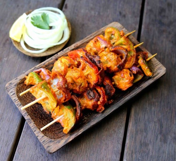 mushroom tikka with bell pepper recipe